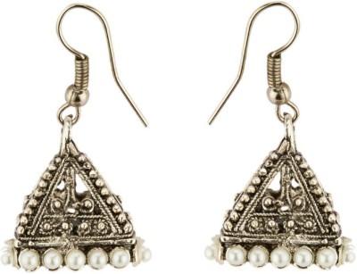 CTW Antique Oxidised Alloy Jhumki Earring