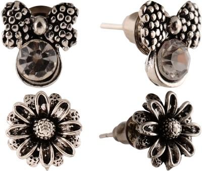 Anokhi Ada Sunflower and Bowknot Metal Stud Earring