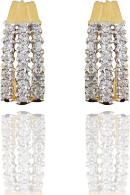 Chaahat Fashion Jewellery Beautifully Designed Cubic Zirconia Copper Stud Earring