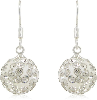 Silverstoli Sparkling White Stone Ball Shape Crystal Alloy Stud Earring