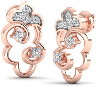 Caratify Unicorn Rose Gold 14kt Diamond Stud Earring