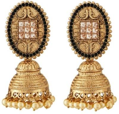 Art Nouveau Modern Style Antique Design For Brass Jhumki Earring