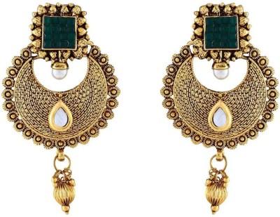Jewlot Magnificent Kundan 1072 Metal Chandbali Earring