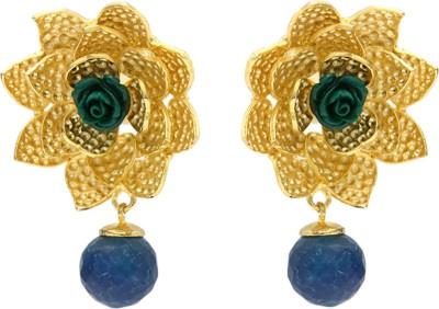 Eighth Fold Flower Brass Stud Earring