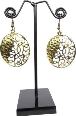 GiftPiper Engraved Brass Turkish Earrings- Oval Shape German Silver Earring Set