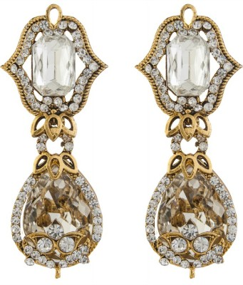 Volama Dsigner Gold Plated Cubic Zirconia Alloy Chandbali Earring