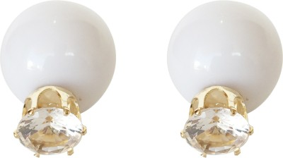 KooKoo Fashion Double Diamond Spark Alloy Stud Earring
