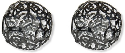 Aimez Charcol Mesh Ball Metal Stud Earring