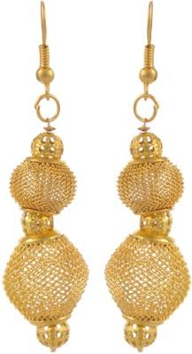 Heartzy Gold Plated Net Balls Earrings Alloy Dangle Earring