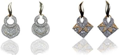 Rashi Jewellery AD Combo 11 Brass Earring Set