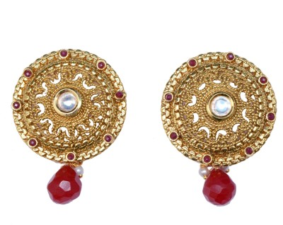 Ved Jewel Antique Traditional Brass Stud Earring