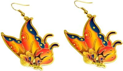 Krishna Mart A Pair Of Brass Metal Hippie Danglers Fashion Earrings Brass Dangle Earring