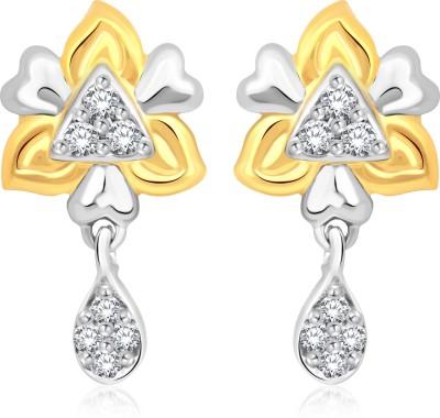 Classic Parineeta Gold And Rhodium Plated Earrings for Women [CJ1005ERG] Cubic Zirconia Alloy Drop Earring