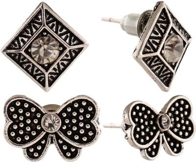 Anokhi Ada Butterfly and Rhombus Metal Stud Earring