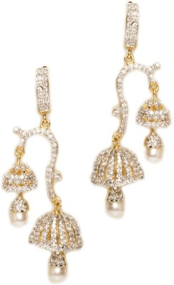 Joyas Stylish Look Brass Jhumki Earring