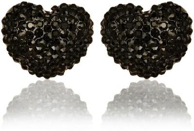Moedbuille Black Insignia [MBER00394] Cubic Zirconia Alloy Stud Earring