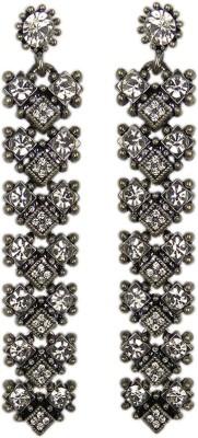 000 Fashions Black Bronze Metallic Crystal Alloy Drop Earring