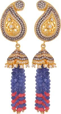 Royal Lady Festive Cubic Zirconia Alloy Tassel Earring