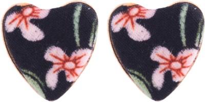 Sparkling Trinkets Fabric, Metal Stud Earring