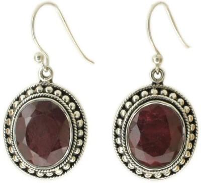 Aabhushan Aabhushajewels Ruby Sterling Silver Dangle Earring