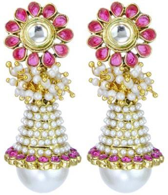 Junaldoindia Jun103 Crystal Metal Jhumki Earring