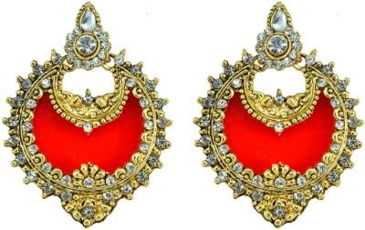 Suvini Style Diva Crystal Alloy Chandbali Earring