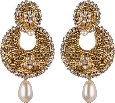 Gazal Jewels Bells Zircon Copper Drop Earring