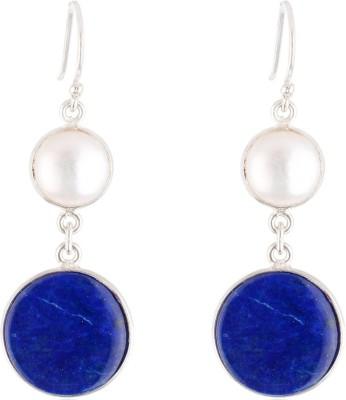 Aarohee Blue Elegance Lapis Lazuli Sterling Silver Dangle Earring