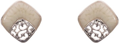 Adorelabel Fabish Rose Gold Addict White Ear Studs Metal Stud Earring
