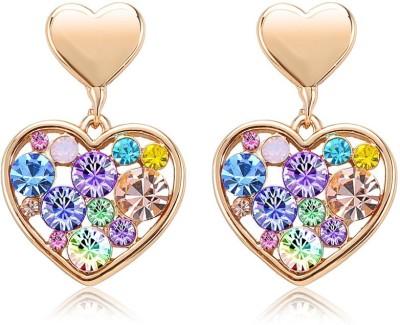 Yiwu Heart Crystal Alloy Stud Earring