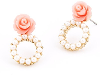 Cilver Fashion Rose With A Ring Alloy Drop Earring