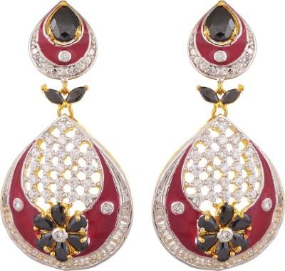 Tuan Sparkling Dangle Diamond, Cubic Zirconia Alloy Drop Earring at flipkart
