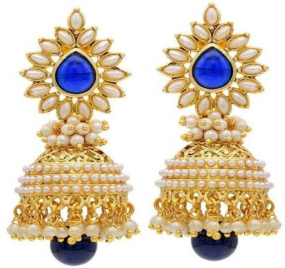 Jewels Guru Diva Style Pearl Alloy Jhumki Earring