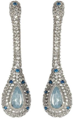 VelvetCase Aquamarine And Topaz Earrings Aquamarine, Topaz Silver Stud Earring