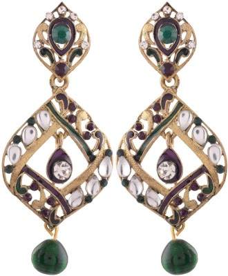 Ganapathy Gems Spring sparkle Alloy Drop Earring