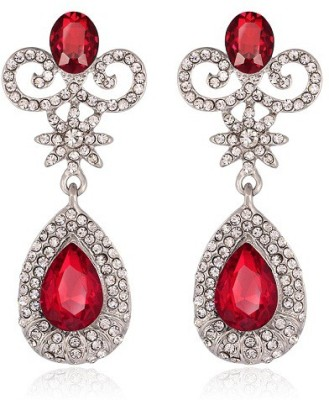 The purple present The mooka red earring Crystal Zinc, Alloy, Crystal Drop Earring