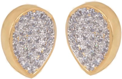 SuperShine Jewelry Spring Sparkle Zircon Brass Cuff Earring