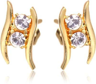 Eclat 713172G Swarovski Crystal Alloy, Brass Stud Earring