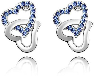 Womanwa Double Heart Metal Stud Earring