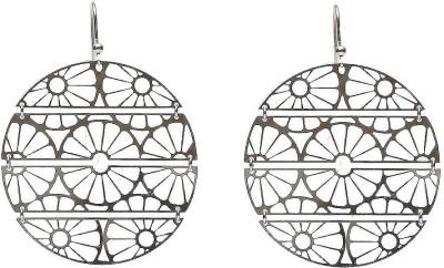 LeCalla Laser Cut Wheel-o-Wheel Sterling Silver Dangle Earring
