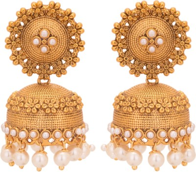 Adwitiya Collection Spring Sparkle Copper Jhumki Earring