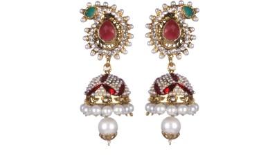 Tatva Exclusive Multicoloured With Zircon Diamonds And Fine Enamel Alloy Jhumki Earring