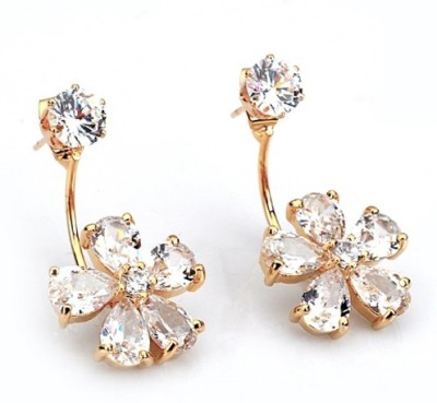 The Sparkle Connection Sunshine Cubic Zirconia Alloy Stud Earring