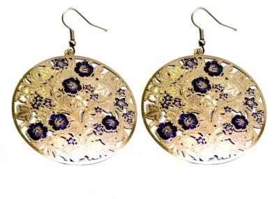 Krishna Mart A Pair Of Indian White Metal Boho Danglers Earrings Metal Dangle Earring