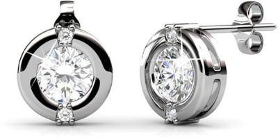 JDX Jade Swarovski Zirconia Silver Stud Earring