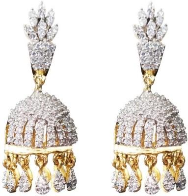 Sheetal Jewellery Cubic Zirconia Brass Jhumki Earring