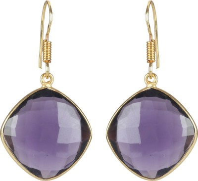 Jaipur Couture Purple Bling Brass Dangle Earring