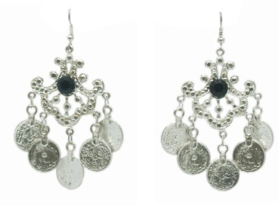 VR Designers Ethnic Coins Metal, Stone Dangle Earring