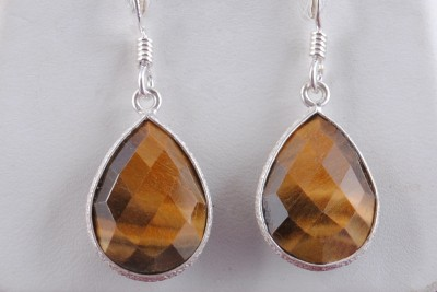 Tiwari Tiger eye Hanging Sterling Silver Dangle Earring