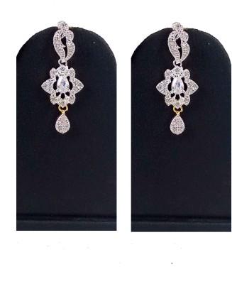 Hotpiper Royal AD Zircon, Ruby Brass Drop Earring